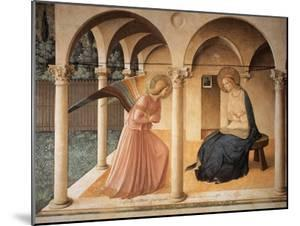 Annunciation with Gabriel Archangel by Beato Angelico
