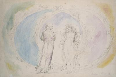 Beatrice and Dante in Gemini-William Blake-Giclee Print