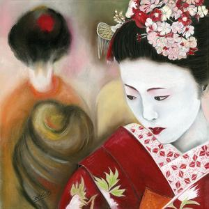 Geisha Rouge a Droite by Béatrice Hallier