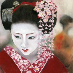 Geisha Rouge a Gauche by Béatrice Hallier