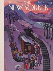 The New Yorker Cover - January 24, 1942 by Beatrice Tobias