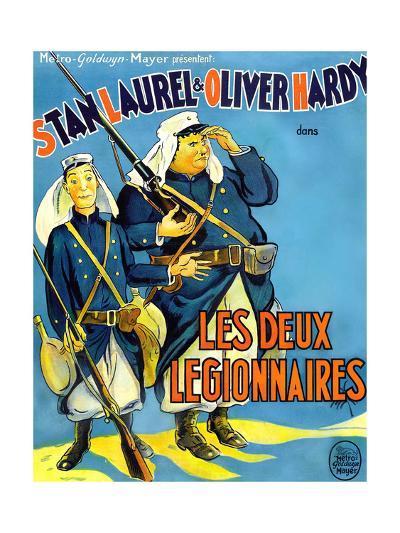 Beau Hunks, (aka Les Deux Legionnaires), French Poster Art, 1931--Giclee Print