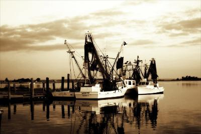 Beaufort Shrimpers-Alan Hausenflock-Photographic Print