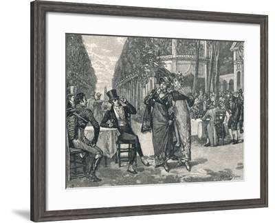 Beaus and Belles of the Regency Period--Framed Giclee Print