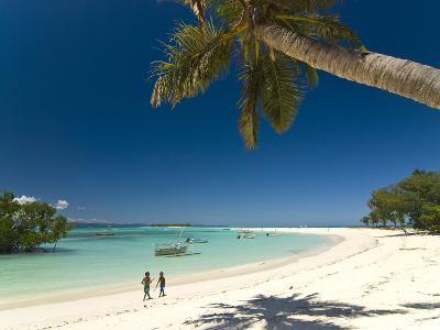 Beautiful Beach in Nosy Iranja, a Little Island Near Nosy Be, Madagascar, Indian Ocean, Africa-Michael Runkel-Photographic Print