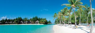 Beautiful Beach on Bora Bora Island - French Polynesia--Art Print