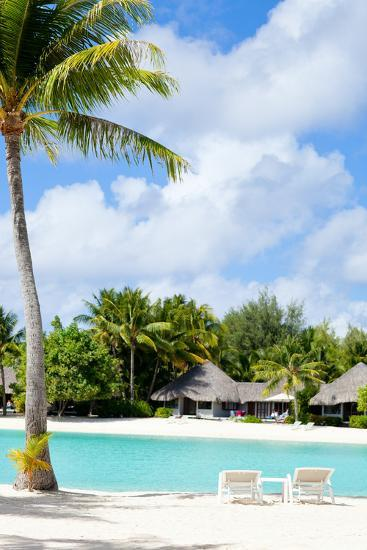 Beautiful Beach on Bora Bora Island in French Polynesia-BlueOrange Studio-Photographic Print