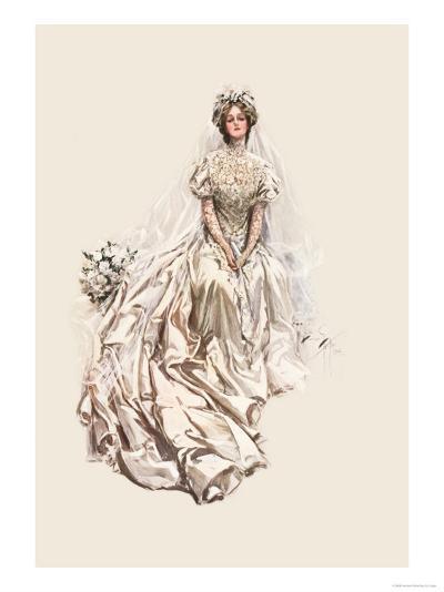 Beautiful Bride-Harrison Fisher-Art Print