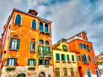 Beautiful Buildings at Venice Italy. HDR Processed-imagIN photography-Photographic Print