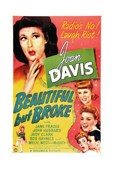 Beautiful But Broke, Joan Davis, Judy Clark, Jane Frazee, 1944--Art Print