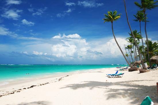 Beautiful Caribbean Beach in Dominican Republic-haveseen-Photographic Print