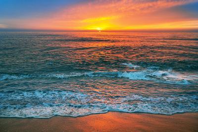Beautiful Cloudscape over the Sea, Sunrise Shot.-vrstudio-Photographic Print