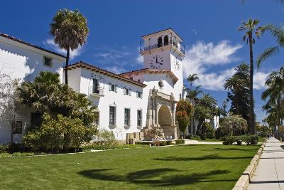 Beautiful Courthouse Santa Barbara California-George Oze-Photographic Print