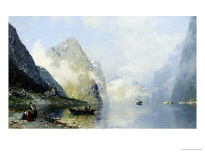 Beautiful Day on the Norwegian Fjord-George Rasmussen-Giclee Print