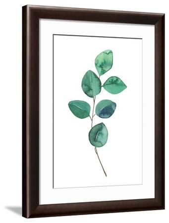 Beautiful Eucalyptus - Botanical Watercolor-Maria Mirnaya-Framed Art Print