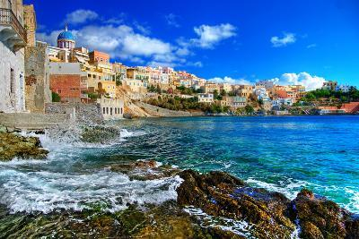 Beautiful Greek Islands Series - Syros-Maugli-l-Photographic Print