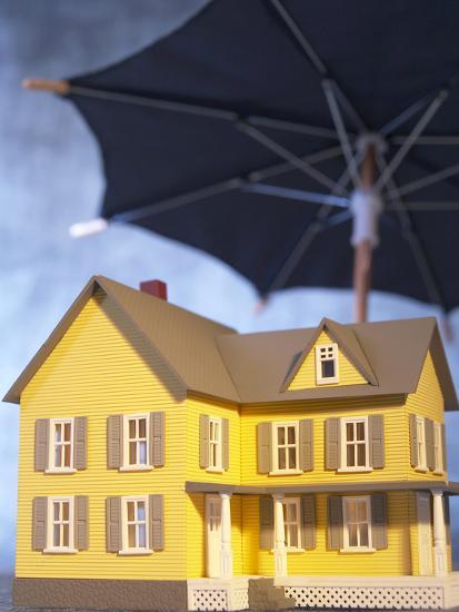 Beautiful Home Under an Umbrella--Photographic Print