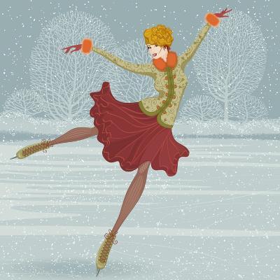 Beautiful Ice Skater-Milovelen-Art Print