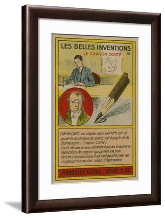 Beautiful Inventions Card, Conte Crayon--Framed Giclee Print