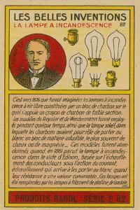 Beautiful Inventions Card, Lightbulbs