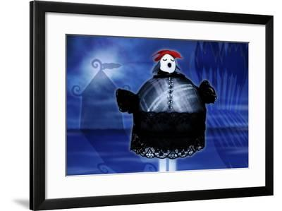 Beautiful Lady Sings-Carrie Webster-Framed Giclee Print
