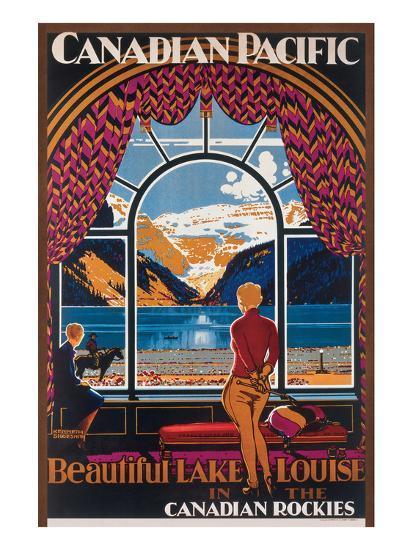 Beautiful Lake Louise in the Canadian Rockies--Art Print