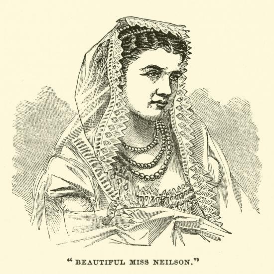 """Beautiful Miss Neilson""--Giclee Print"