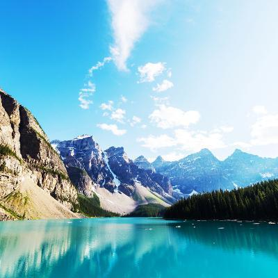 Beautiful Moraine Lake in Banff National Park, Canada-Galyna Andrushko-Photographic Print