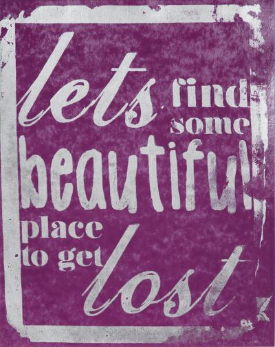 Beautiful Place (Purple)-Kyle & Courtney Harmon-Serigraph