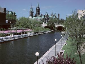 Beautiful Rideau Canal in Ottawa, Ontario, Canada