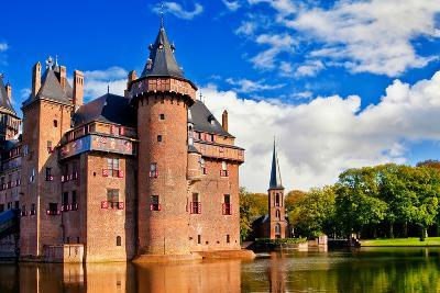 Beautiful Romantic Holland Castle on Water De Haar-Maugli-l-Photographic Print