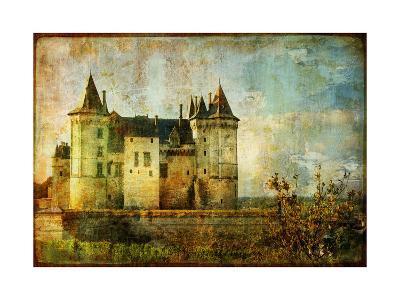 Beautiful Saumur Castle - Vintage Picture-Maugli-l-Art Print