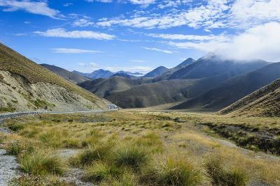 Beautiful Scenery on the Highway around the Lindis Pass, Otago, South Island, New Zealand, Pacific-Michael Runkel-Photographic Print