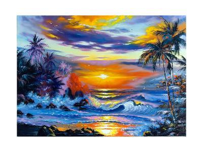 Beautiful Sea Evening Landscape-balaikin2009-Art Print