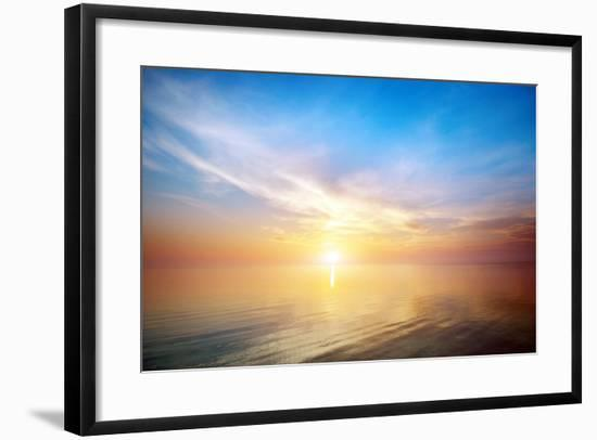 Beautiful Seascape. Composition of Nature.- djgis-Framed Photographic Print