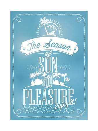 Beautiful Seaside View Poster. With Typography-Melindula-Art Print