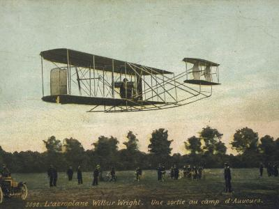 Beautiful Shot of Wilbur Wright Making a Demonstration Flight at Auvours--Photographic Print