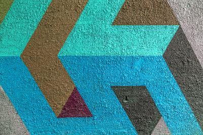 Beautiful Street Art Graffiti. Abstract Creative Drawing Fashion Colors on the Walls of the City. U- A_Lesik-Photographic Print