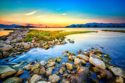Beautiful Summer Sunset over the Rocky Shore by the Sea. HDR Image- nomadFra-Photographic Print