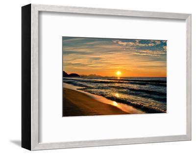 Beautiful Sunrise In The Beach-dabldy-Framed Premium Photographic Print