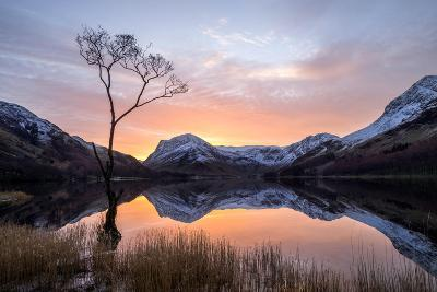 Beautiful Sunrise over Buttermere in the English Lake District-Tony Allaker-Photographic Print