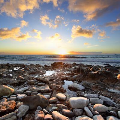 Beautiful Sunset at Atlantic Ocean. Tenerife, Canary Islands-Roman Sigaev-Photographic Print