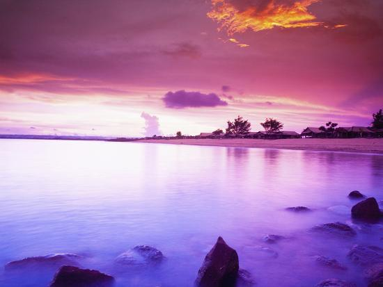 Beautiful Sunset, Bali, Indonesia-Micah Wright-Photographic Print