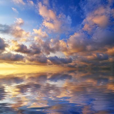 Beautiful Sunset on the Sea. Beautiful Seascape-Oleh Honcharenko-Photographic Print