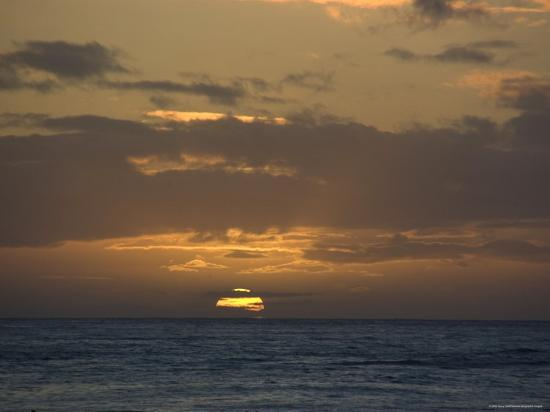 Beautiful Sunset over the Pacific Ocean, Hawaii-Stacy Gold-Photographic Print