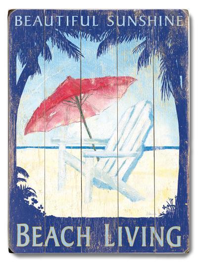 Beautiful Sunshine Beach Living--Wood Sign