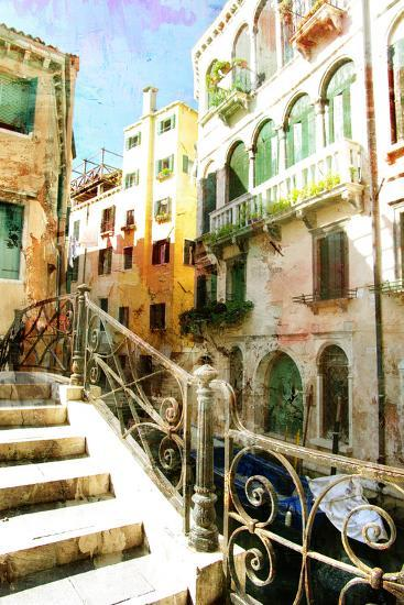 Beautiful Venetian Pictures - Oil Painting Style-Maugli-l-Art Print