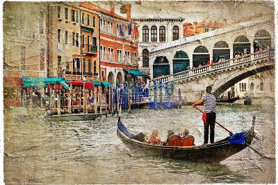 Beautiful Venice - Artwork In Painting Style-Maugli-l-Art Print