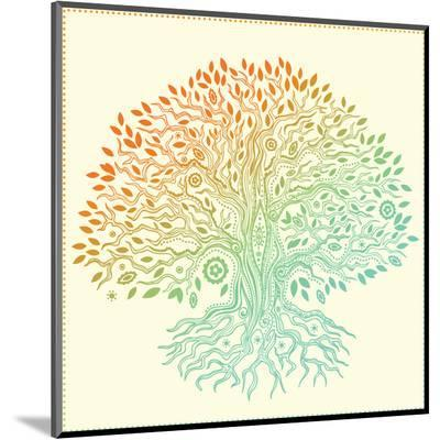 Beautiful Vintage Hand Drawn Tree Of Life-transiastock-Mounted Print