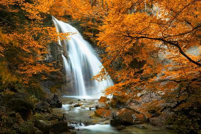 Beautiful Waterfall. Autumn-silver-john-Photographic Print